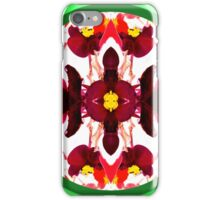 Bright Red Christmas Flower Ornament Design iPhone Case/Skin