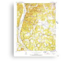 USGS TOPO Map Arkansas AR Bethesda 257988 1942 24000 Canvas Print