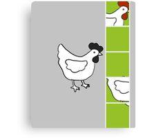 Chicken Film Strip Canvas Print