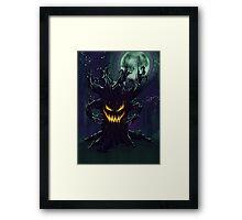 Scary Halloween Tree Framed Print