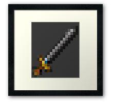 Pixel Sword  Framed Print