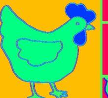 Radiated Chicken Sticker