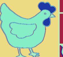 Chicken Old Timer Sticker