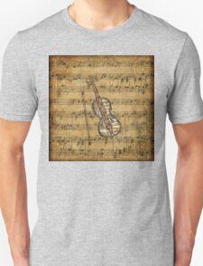 Vintage Sheet Music Violin Unisex T-Shirt