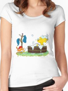 Ferald's Bubble Bath Women's Fitted Scoop T-Shirt