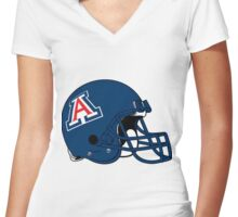 Arizona Football Women's Fitted V-Neck T-Shirt