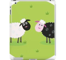 Black and white sheep. The difference - oposite sheep, black and white iPad Case/Skin