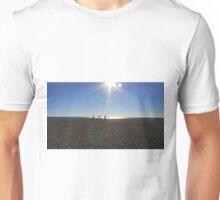 PALM TREES ON THE BEACH. Unisex T-Shirt