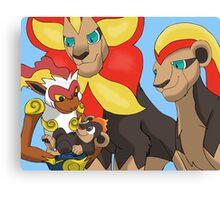 The Pyroar King - Lion King/ Pokemon Mash-up Canvas Print