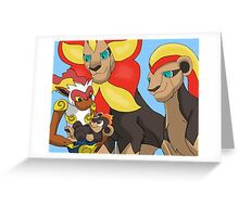 The Pyroar King - Lion King/ Pokemon Mash-up Greeting Card