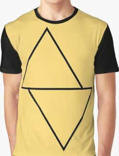 Sliding Triangles Goldenrod Graphic T-Shirt