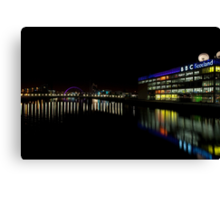 The Colourful Clyde at Night Canvas Print