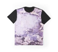 Purple Marble Stone Abstract Graphic T-Shirt