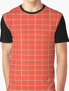Orange Square Patterns Graphic T-Shirt