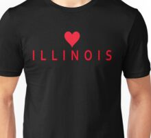 Illinois with Heart Love Unisex T-Shirt