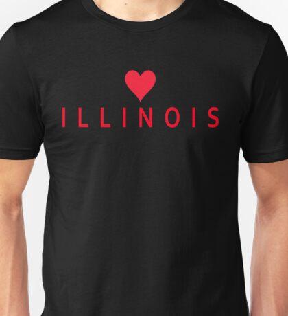 Illinois with Heart Love Unisex T-Shirt