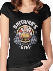 Saitama's Gym Women's Fitted Scoop T-Shirt