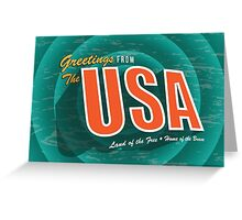 Vintage style Greeting Card or postcard of the USA Land of the Free and Home of the Brave. Greeting Card