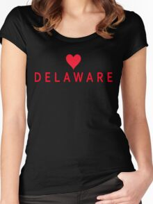 Delaware with Heart Love Women's Fitted Scoop T-Shirt