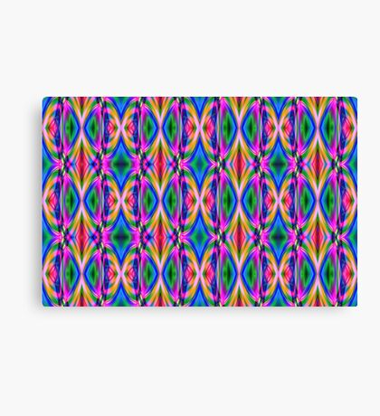 Groovy Psychedelic Diamond Pattern Abstract Canvas Print