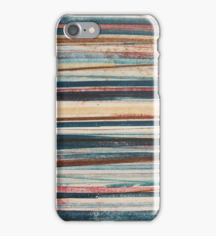 Stripes #30 - colorful monoprint iPhone Case/Skin