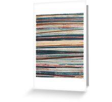 Stripes #30 - colorful monoprint Greeting Card
