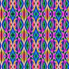 Groovy Psychedelic Diamond Pattern Abstract by Gravityx9