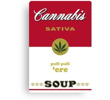 Cannabis Sativa Soup Canvas Print