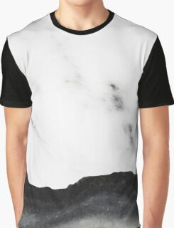 White marble Black Marble Graphic T-Shirt