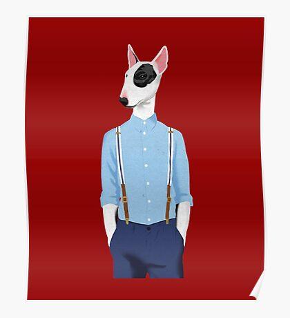 Skinhead Bull Terrier shirt Poster