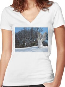 Consoling Angel • Sunshine Women's Fitted V-Neck T-Shirt