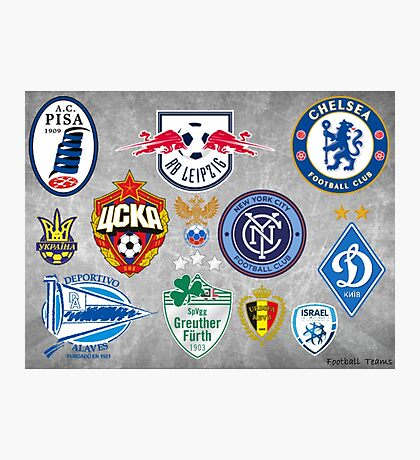 Football Clubs Photographic Print