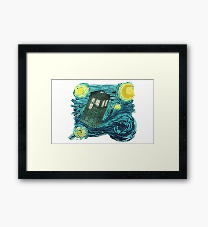 Starry Tardis Framed Print