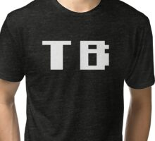 Tecmo Bowl Tampa Bay Buccaneers Football 8-Bit NES Nintendo Pixel Type Shirt T-shirt Tri-blend T-Shirt