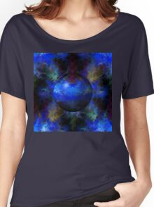 Abstract Blue Globe Women's Relaxed Fit T-Shirt