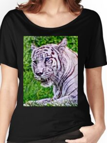 White Bengal Tiger Women's Relaxed Fit T-Shirt