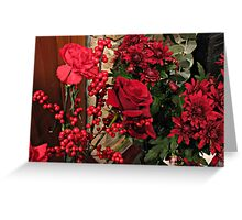 Scarlet Sensation - Winter Flowers and Berries Greeting Card