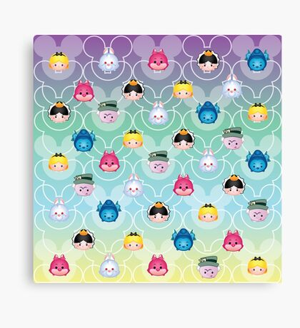 Tsum Tsum Alice in Wonderland - purple/green/blue/yellow Canvas Print