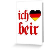 Ich Heart Beir Greeting Card