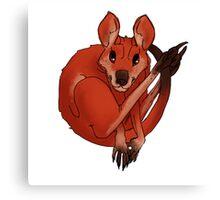Chibi Kangaroo Canvas Print