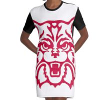 Red Arizona Wildcats Logo Graphic T-Shirt Dress
