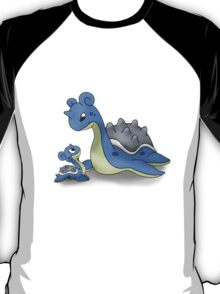 Lapras Pokemon Mother & Child T-Shirt