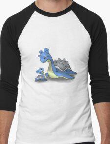 Lapras Pokemon Mother & Child Men's Baseball ¾ T-Shirt