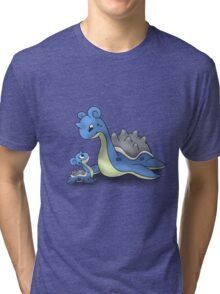Lapras Pokemon Mother & Child Tri-blend T-Shirt