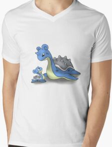 Lapras Pokemon Mother & Child Mens V-Neck T-Shirt