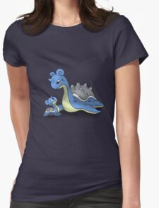Lapras Pokemon Mother & Child Womens Fitted T-Shirt