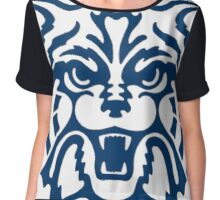 Blue Arizona Wildcats Logo Chiffon Top