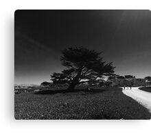 Walking with Friends in Pacific Grove  Canvas Print