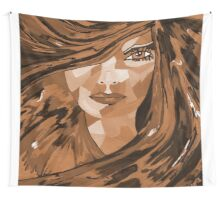 Brown Eyed Girl Wall Tapestry