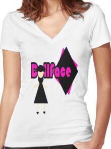 """DollFace"" Women's Fitted V-Neck T-Shirt"